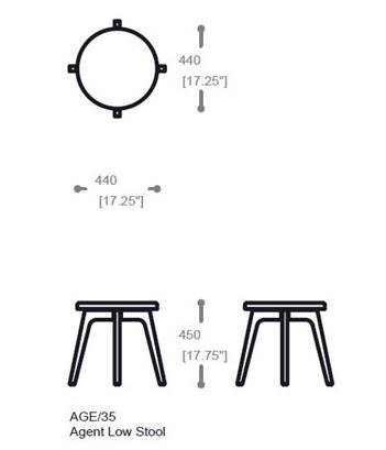 Dimensions stool
